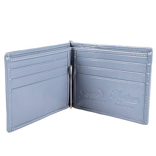 Slim Wallet Clip Bifold Crocodile Genuine Credit Gray Card Slim Money Leather Holder qnxAzczE