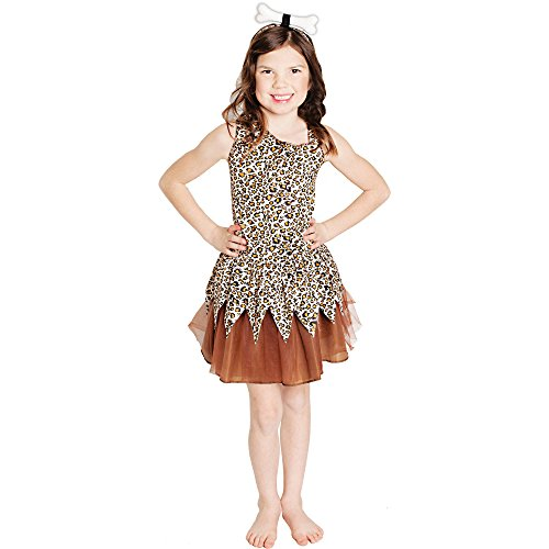 Pebbles Costume Halloween (Cave Girl Halloween Costume (Medium 8-10))