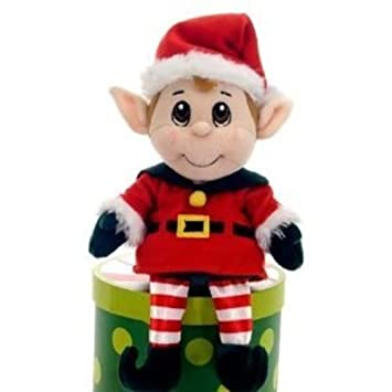 Fiesta Toys - Peluche de elfo secreto de Santa Claus (28 cm)