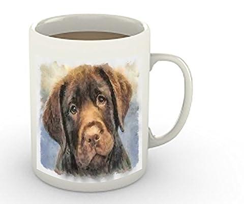 Chocolate Labrador Retriever 15 Ounce Ceramic Coffee/Latte Mug By Doggylips - Labrador Coffee