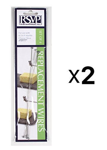 RSVP Replacement Marble Cheese Slicer Wires For #Gry-5 (Set Of 4) (2-Pack)