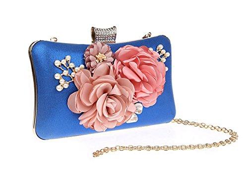 Femmes Fleur Porte Les Bow Argent Polyester Rouge Pour Sacs Fuchsia PU Violet Saisons Blue Pour s Toutes monnaie Noir fxqP58P