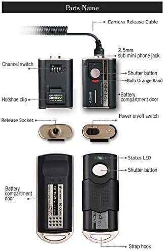 Transmitter and Receiver SMDV RFN4 RF-902 Wireless Remote Shutter Release for Olympus