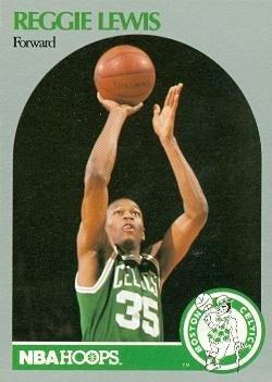 Reggie Lewis Basketball Card (Boston Celtics) 1990 Hoops #43