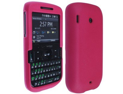 (Rubberized Phone Protector Case Cover Hot Pink for Verizon Wireless HTC Ozone XV6175)