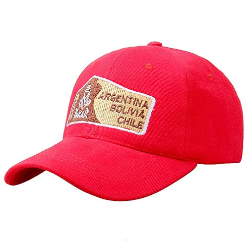 Cotton Simple Car Baseball Cap Embroidered Dakar Red Sports Hat Men or Women Outdoor Sports and Leisure Off-Road Cap