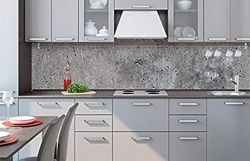 Küchenrückwand Folie Selbstklebend BETON 260 X 60 Cm | Klebefolie    Dekofolie   Spritzchutz Für Küche