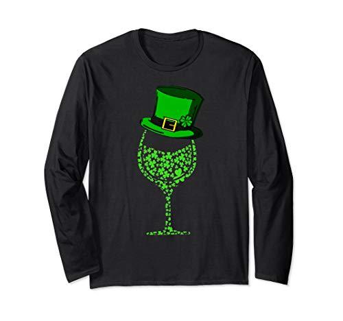 Shamrock Wine Top Hat Glass St Patrick's day 2019 T Shirt
