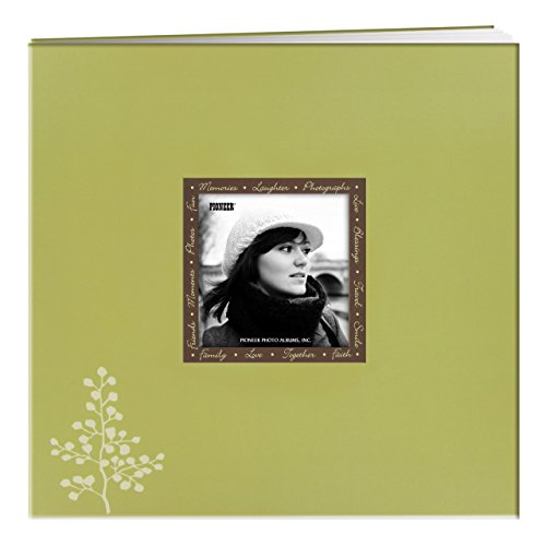 Pioneer Photo Albums 20 Page Designer Printed Raised Frame Leaves Cover Scrapbook for 12 by 12-Inch ()