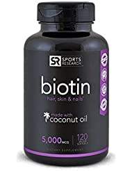 Biotin (High Potency) 5000mcg Per Veggie Softgel; Enhanced...