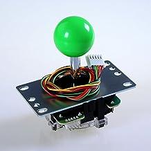 Sanwa Denshi Japan JLF-TP-8YT *FAST SHIPPING* Green Ball Top Handle Arcade Joystick Part 4 & 8 Way Adjustable - Hori Fight Stick Repair Part - Mad catz SF4 Tournament Joystick Compatible