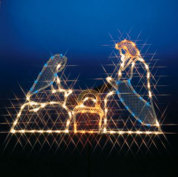 Lighted Outdoor Nativity Set By Miles Kimball