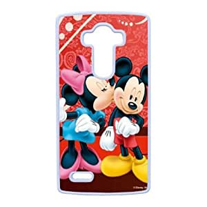 LG G4 Phone Case White Disney Mickey Mouse Minnie Mouse WQ5RT7503811