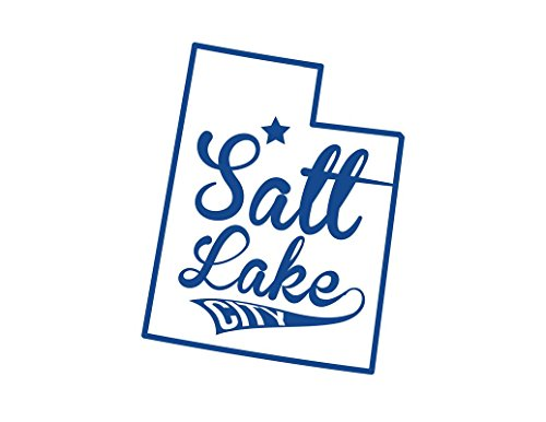 ND436B Salt Lake City Utah Decal Sticker | 5.5-Inches By 4.3-Inches | Premium Quality Blue Vinyl ()