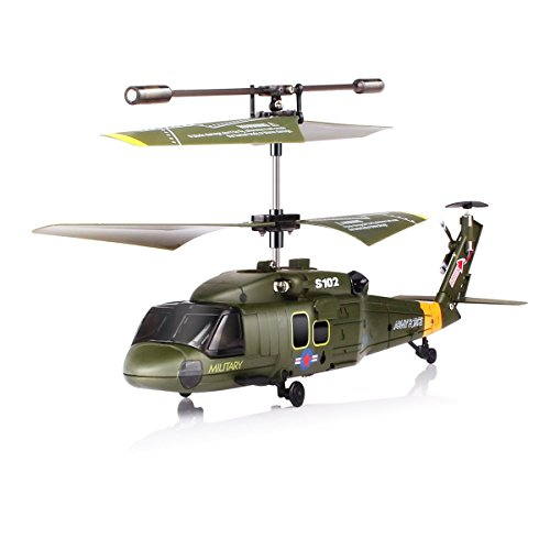 NEW GENUINE SYMA S102G 3CH GYRO RTF UH-60 BLACK HAWK INDOOR RC HELICOPTER WITH FREE AC Wall CHARGER