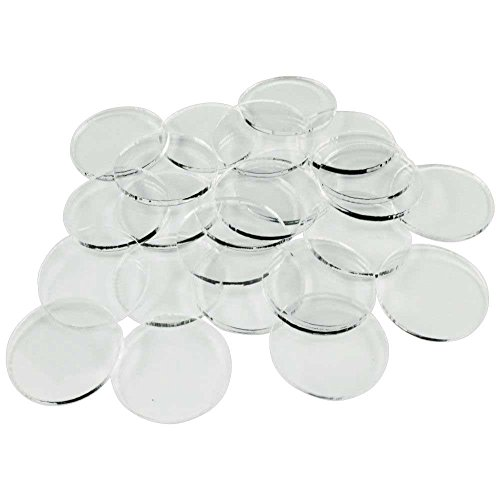 Litko Game Accessories 25mm Clear Circular Miniature Bases, 1.5mm Thick (25 (Accessories Cement Board)
