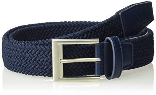 (adidas Golf Braided Weave Stretch Belt, Collegiate Navy, Small/Medium)