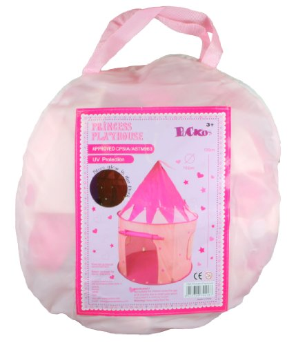 Girl's Pink Princess Castle Play Tent by Pockos - Indoor / Outdoor