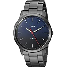 Fossil Men's 'The Minimalist 3H' Quartz Stainless Steel Casual Watch, Color Grey (Model: FS5377)
