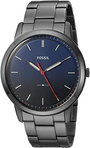 Fossil Men's 'The Minimalist 3H' Quartz Stainless Steel Casual Watch, Color:Grey (Model: FS5377)
