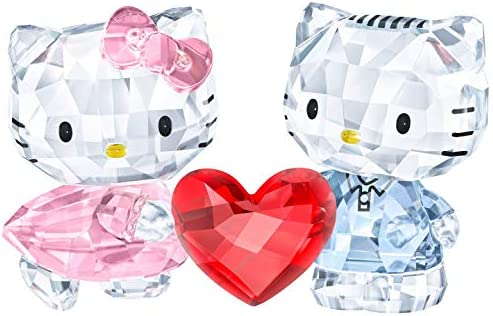 SWAROVSKI Hello Kitty Dear Daniel Crystal Figurine, Crystal, Multi-Colour, 8.2