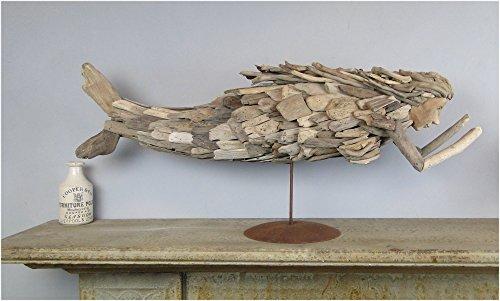 Pieces of Driftwood Hand Crafted MERMAID SCULPTURE folk art on (Folk Art Sculpture)