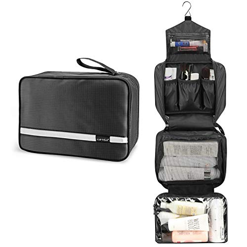 Large Toiletry Bag for Men and Women, Travel Make up Wash Bag, Cosmetic Waterproof Bathroom Bag for Business Trip