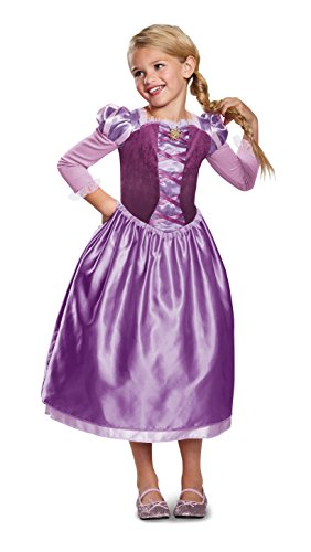 Rapunzel Day Dress Classic Costume, Purple, X-Small -