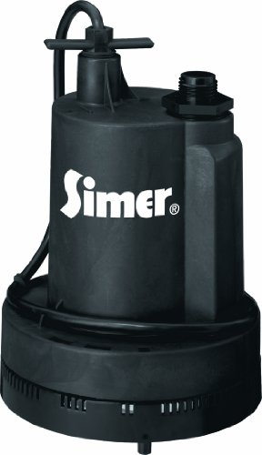 Simer 2305-04 Geyser II 1/4 HP Submersible Utility (0.25 Hp Utility Pump)