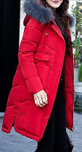 Coat 1 Jacket Down EKU Women's Hooded Puffer Overcoat Long Outwear Parka wnfRnTqxS1