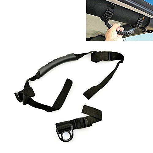 KIKIGOAL 2 pcs Roll Bar Grab Handles Roll Bar Coat Hanger Kit for 1995-2017 Jeep Wrangler CJ TJ JK