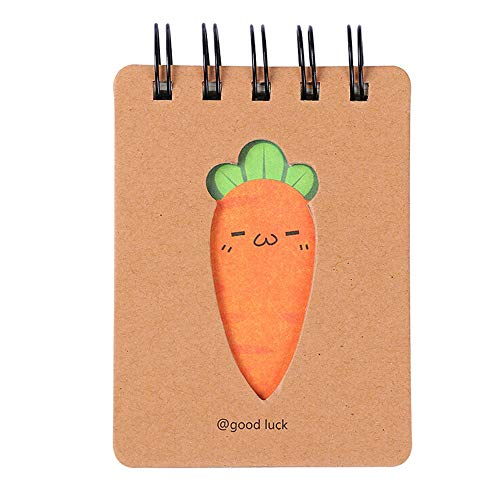 Cute Carrot Paper Blank Page Notebook Note Book Journal Diary Notepad ()