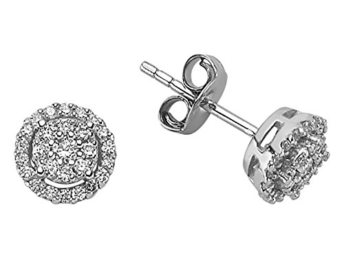 Boucles d'Oreilles Diamants 0.30 Carat-Femme- or Blanc 217E0029