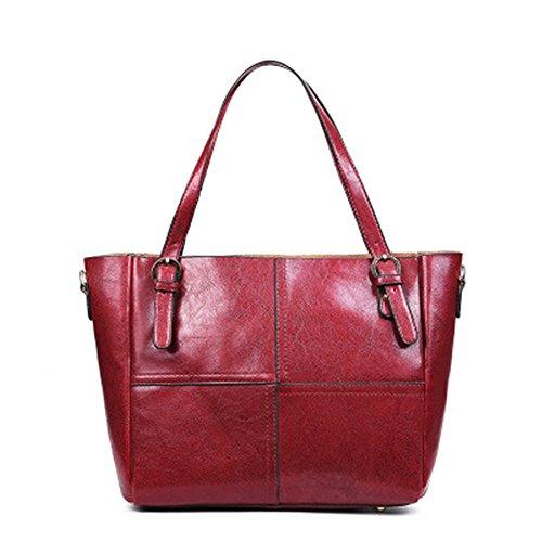 À Tote Fashion Rouge Red Sac Grande Wild Main Main À Bandoulière Capacité Meaeo Nouveau Sac Lady Sac À Iwqap6v