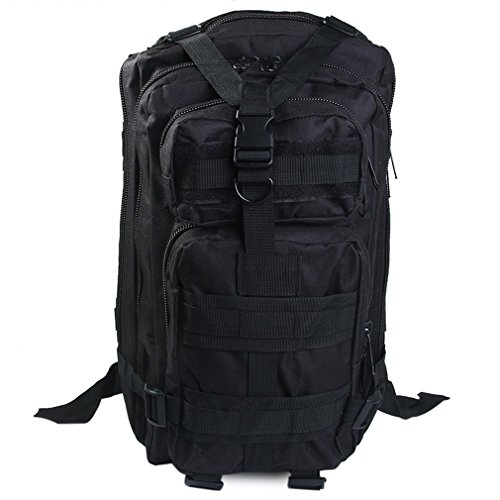 DWEFVS Military Backpack Oxford Unisex Outdoor Sports Hunting Camping Climbing Hiking Bag BLACK 30-40L by DWEFVS