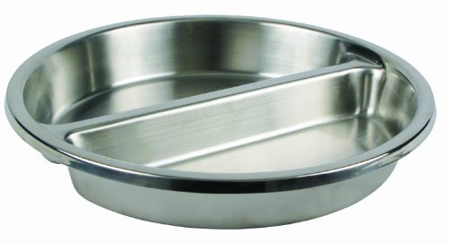 Round Divided Food Pan for 6 Qt Chafer Winco