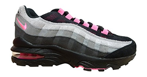 Nike Mädchen Air Max 95 LE (GS) Turnschuhe Black (Black (Schwarz / Pink-Wlf Lsr Gry-Cl))