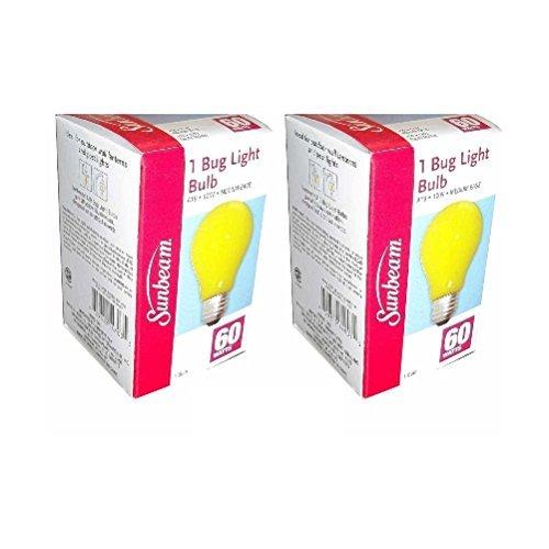 Sunbeam 60-Watt A19 120V Bug Light Bulb (Pack of 2)