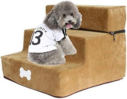 Neckip Haustiertreppe, Hundetreppe, Katzentreppe, Haustiertreppe mit 2 Stufen, Einstiegshilfe für Hund Katze Kleine Oder Altmodische Haustiere