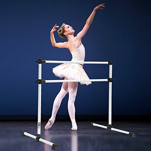 Double Freestanding Ballet Barre for Home | Adjustable 4 FT Stretch/Dance Barre, Fitness Workout Ballet Bar for Kids ()