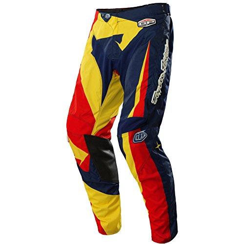 Troy Lee Designs GP Vega Men's MotoX/Off-Road/Dirt Bike Motorcycle Pants - Navy/Red / Size 32 (Troy Lee Dirt Bike Helmet)