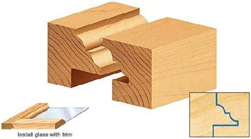 49677 Carbide Tipped 2Piece Classical Stile /& Rail 1//4 Shank Set Amana Tool