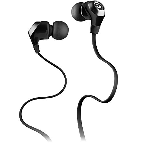 Monster N-Lite In-Ear Wired Earbud Headphones with Mic and In-Line Controls, High Performance Earbuds, Black (Certified Refurbished)
