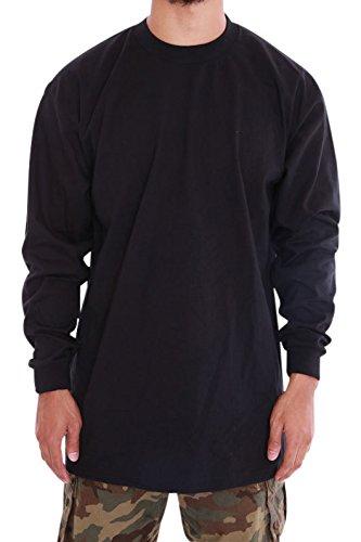 Pro Club Mens Heavyweight Cotton Long Sleeve Crew Neck T-Shirt