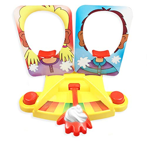 bromrefulgenc Pie Face Showdown Game Interactive Joke Games,Single/Double Pie Face Showdown Game Challenge Family Interactive Table Toy Double ()