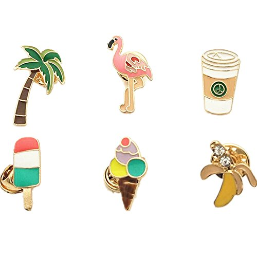 Custom Enamel Pins - Dragon Fashion Summer Metal Enamel Lapel Pin Set Cute Brooch Pin Badge for Clothes Bags Backpacks