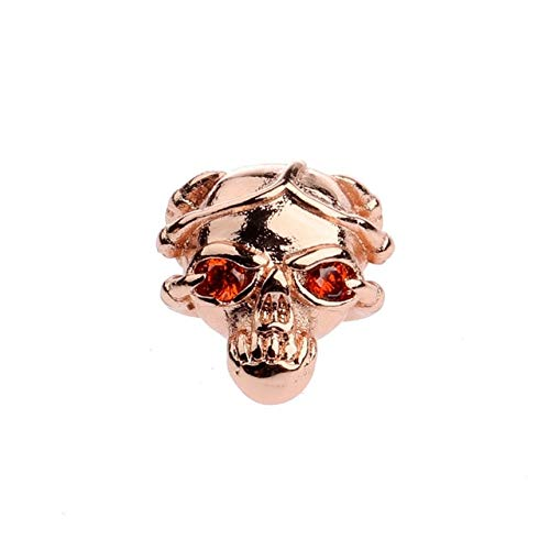 - Kamas New Skull Pendant Copper Spacer Beads Micro Pave White CZ Charms Loose Beads for Jewelry Bracelet Making DIY Accessories - (Color: 2)