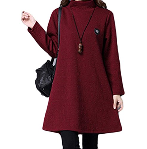 Pattern4 Womens Dress Comfy Line Pullover High Oversized Neck Solid Quilted A 1qZwB64vq