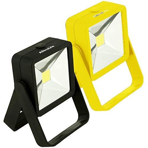 2 Pack - STANCE Portable LED Work Light, 200 Lumens Brilliantly Bright Multi-use COB Flashlight, Magnetic Base, 16ft Irradiate Distance, 120° Beam Angle Flood Light, for Blackout, Car Repairing