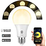 Bluetooth_Mesh Smart Dimmable Light Bulb, HaoDeng App Controlled, No Hub Required, Suitable for Household Lighting (Hub Required to Enable Remotely Alexa Google Voice Control, Hub Sold Separately